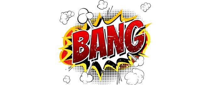 BANG! in Comicschrift (Lautmalerei)
