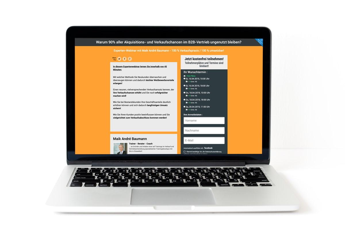 Vertriebscoaching Webinar - Jetzt anmelden!